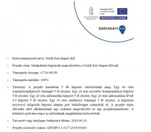 Pályázat Széchenyi 2020 NEI Kft.